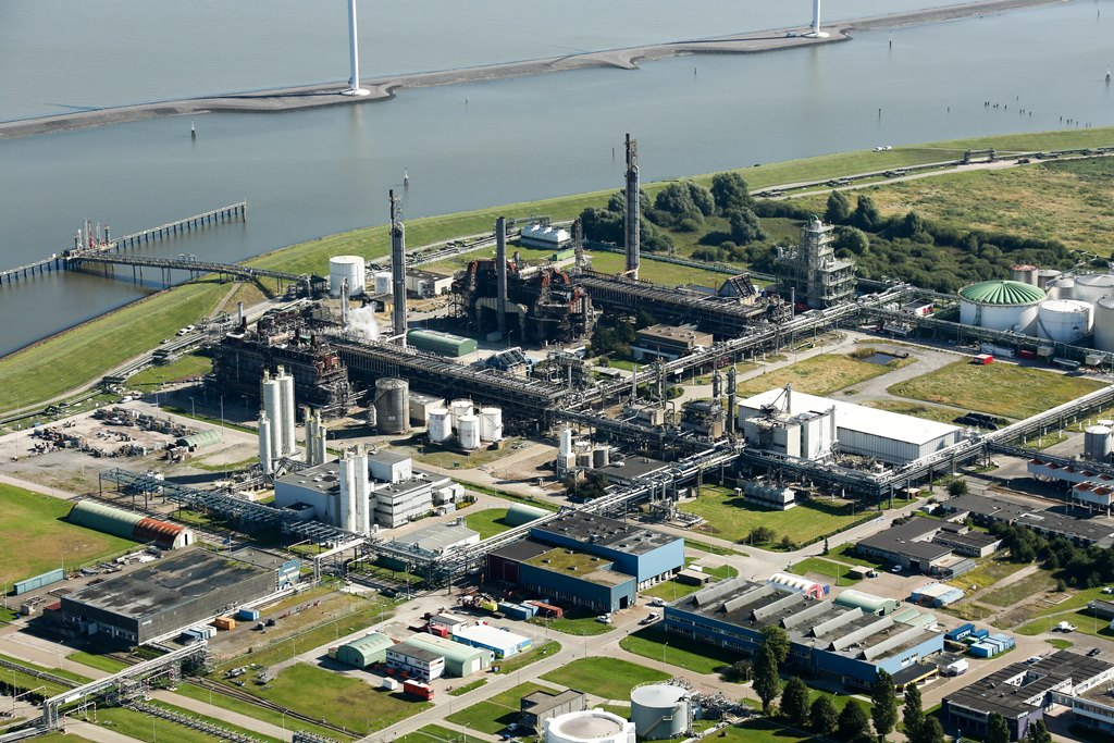 De fabriek van BioMCN (OCI) in Delfzijl