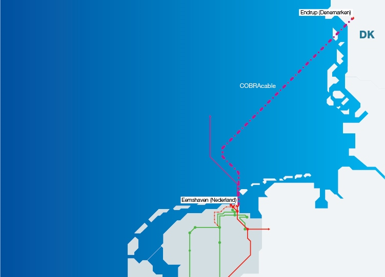 The COBRA cable between Eemshaven (The Netherlands) and Endrup (Denmark)