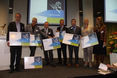 De borden voor de huidige Green Award havens