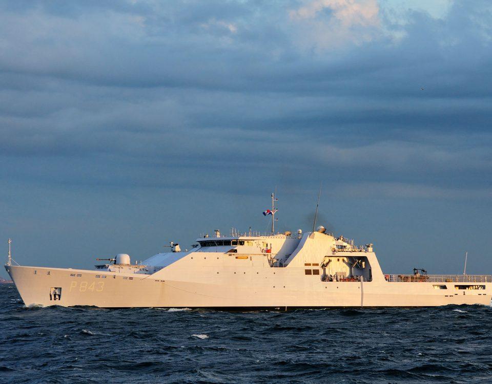 Het patrouilleschip 'de Groningen'