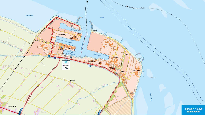 Port map - Groningen Seaports