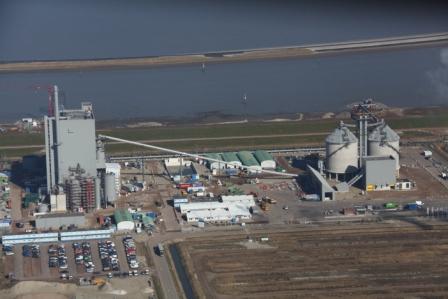 De bouw van de bio-centrale Eneco Bio Golden Raand nadert de voltooiing