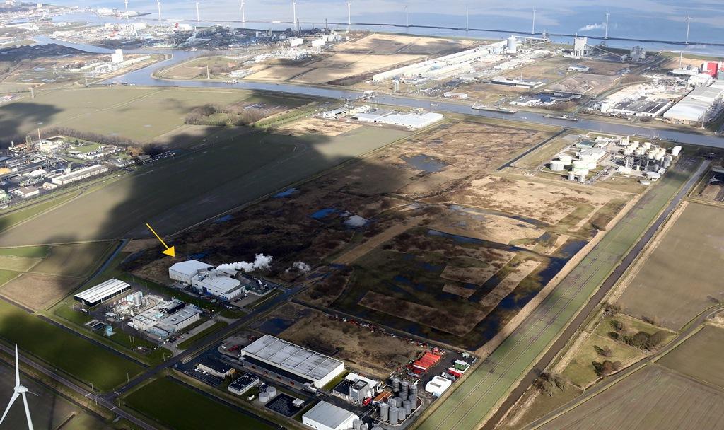 De locatie van Subcoal® Production FRM B.V. op het industriegebied iin Delfzijl