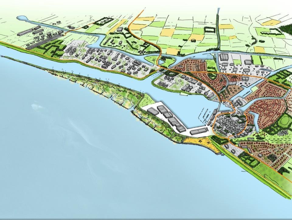Impressie van het project Marconi in Delfzijl