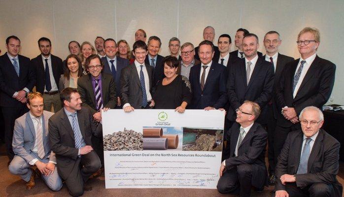 De ondertekening van de internationale 'Green Deal North Sea Resources Roundabout' is een feit