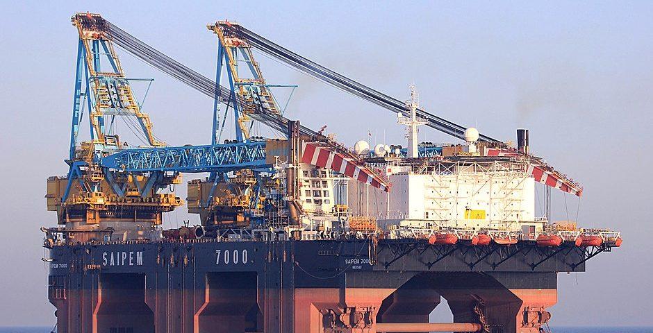 Het mega kraanschip Saipem 7000