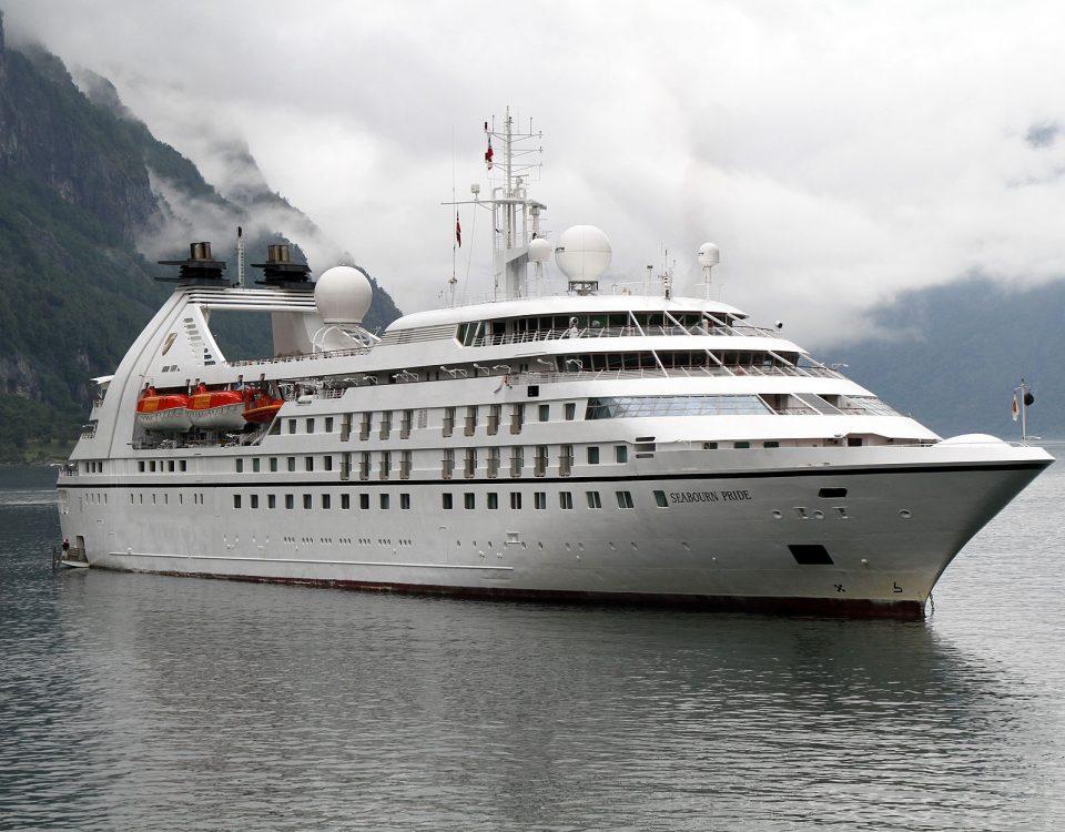 Het cruiseschip Seabourn Pride
