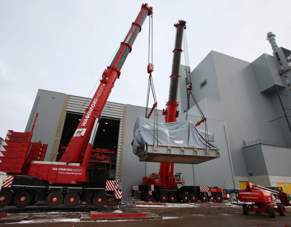 De nieuwe turbine wordt de biomassacentrale in getakeld